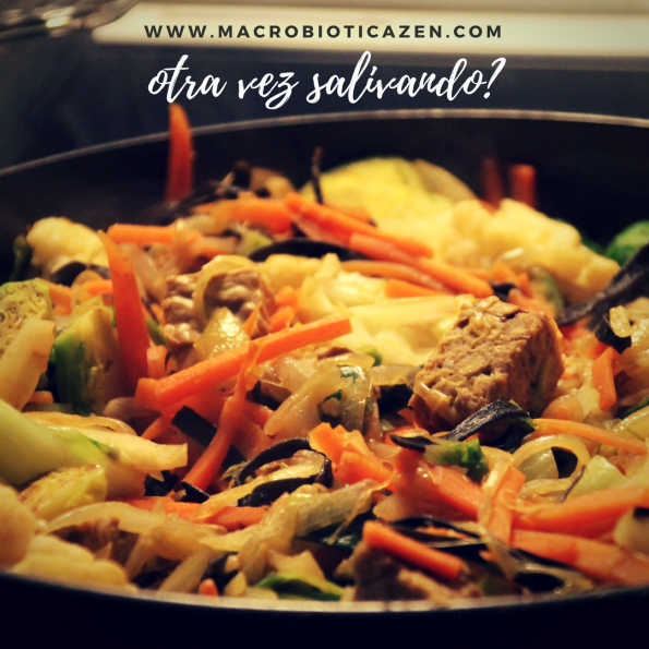 verduras salteadas tempeh