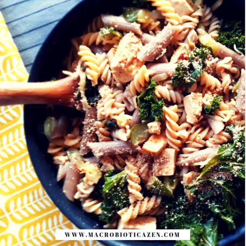 receta macrobiotica zen wok pasta integral