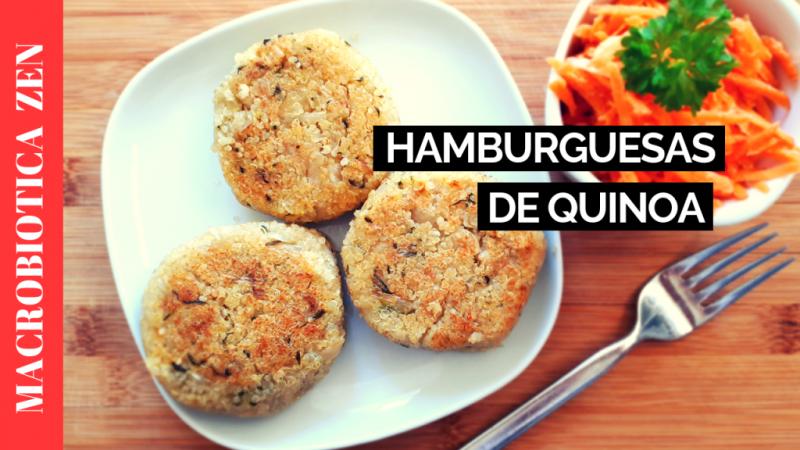 hamburguesas de quinoa macrobiotica zen