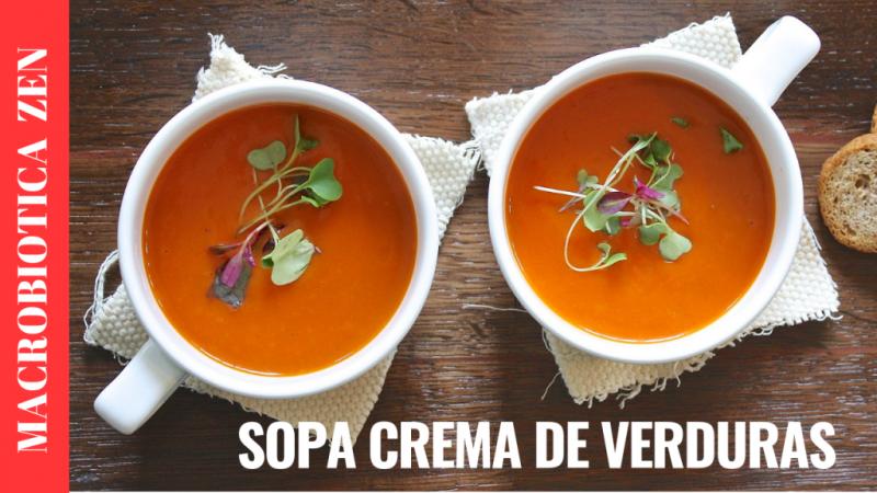 sopa crema de verduras macrobiotica zen